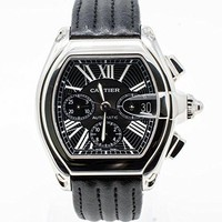 Cartier Roadster XL Chronograph automatic self rewind watch W62020X6 water proof