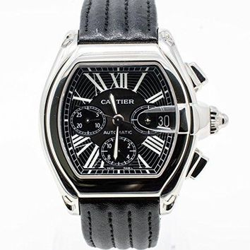 Cartier Roadster XL Chronograph automatic self rewind watch W62020X6 water proof (Certified Pre-owned)