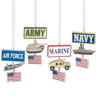 Military Ornament Tree Figures
