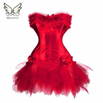 Waist trainer corsets Red black Sexy Gothic corsets Dress women corsets women hot shapers body intimates corsets and bustiers