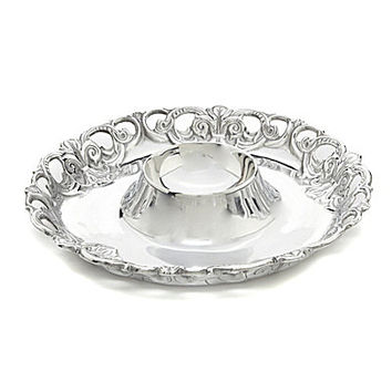 Arthur Court Fleur-De-Lis Chip & Dip Server
