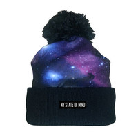 """The Intergalactic"" Knit Beanie w/ Pom"