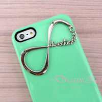 One Direction Iphone 5 Case, Iphone 5 case, Directioner Infinity Hard Case, Light Green iphone 5 case