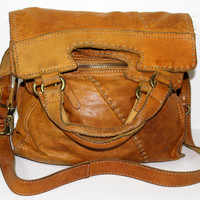 Lucky Brand Abbey Road Messenger Tote Soft Italian Leather