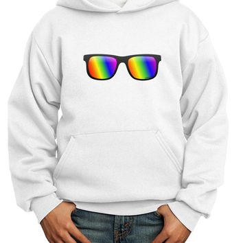 Pride Rainbow Lenses Youth Hoodie Pullover Sweatshirt by TooLoud