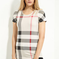 Burberry Brit Check Print Top | Nordstrom