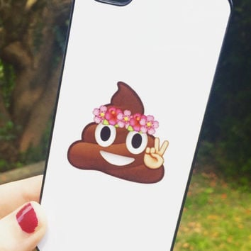Iphone 4 4S Phone Case Emoji Icons Poop Print Hipster Phone Cover