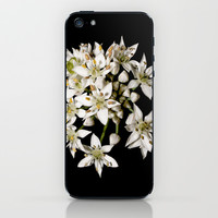 White Flowers iPhone & iPod Skin by Stephen Linhart
