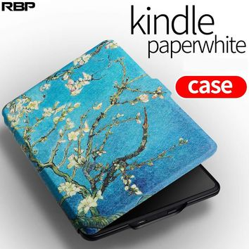 RBP  for Amazon kindle protective case for paperwhite1 2 3 E-book 958/899  shell for kindle paperwhite cover Van Gogh painting