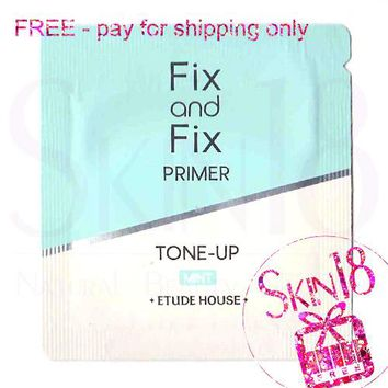 Freebies - Etude House Fix and Fix Primer Tone-up - Mint (Sample Pack)  *exp.date 04/20