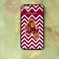 Personalized Arizona State Sun Devils iPhone 5, 5s, 5c, 4s, 4, ipod touch 4, 5, Samsung GS3 GS4-Silicone Rubber, Hard Plastic cover