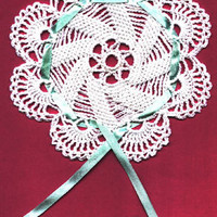 Doily Pattern Jar Lid Cover Favors Pouch Weddings Christenings Instant download PDF Niatta