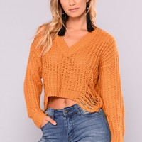 Coralie Long Sleeve Sweater - Mustard
