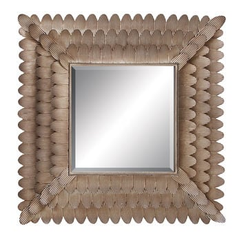 """Wall Accent Mirrors- Metal Mirror 35""""W, 34""""H"""