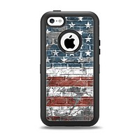 The Vintage USA Flag Apple iPhone 5c Otterbox Defender Case Skin Set