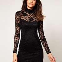 ASOS | ASOS Lace Body-Conscious Dress With Open Back at ASOS