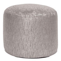 Glam Pewter Tall Pouf Ottoman
