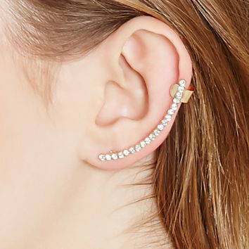 Rhinestone Ear Cuffs - Jewelry - 1000203339 - Forever 21 EU English