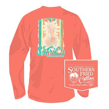 Southern Hospitality Long Sleeve Tee in Summer Sunset by Southern Fried Cotton