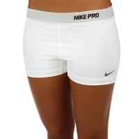 Nike Lady Pro Core II 2.5 Inch Compression Shorts (L, Heather)