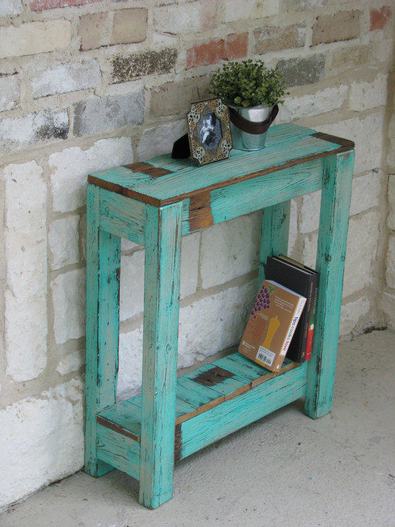 Farmhouse end table from rusticexquisitedsgn on etsy home for 65 farmhouse table