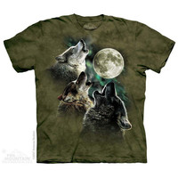 Three Wolf Moon in Olive T-Shirt