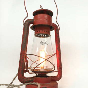 Antique Lantern, Dietz Lantern, Lantern Lighting, No 2 Dietz Lantern, Crescent Lantern, Railroad Lantern, Farm Lantern, Primitive Light