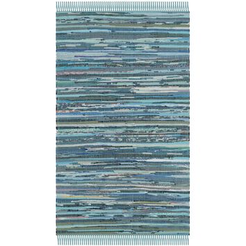 Safavieh Hand-woven Rag Rug Blue Cotton Rug (2'3 x 5') | Overstock.com Shopping - The Best Deals on Accent Rugs