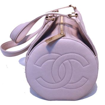 CHANEL Lilac Quilted Leather Shoulder Bag - AUTHENTIC