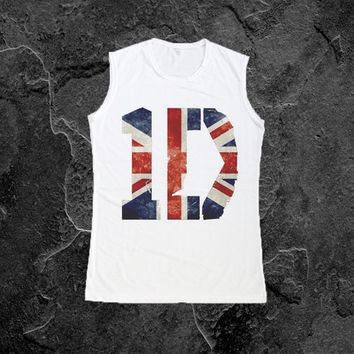 1D UK Flag Shirt Tank Top T-Shirt Women Muscle Tee Shirts Size S M L