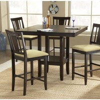 101983 Arcadia 5-Piece Counter Height Dining Set with Slat Back Stools - Free Shipping!
