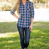 Plaid About You Top-Magenta - NEW ARRIVALS