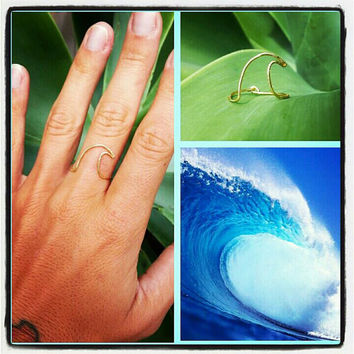 Wave Wire Ring, Surf, Beach, Hawaii