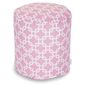 Soft Pink Links Small Pouf
