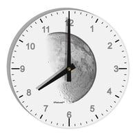 "Moon Shadow 8"" Round Wall Clock with Numbers"