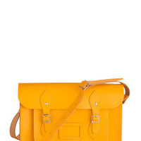 Cambridge Satchel Upwardly Mobile Satchel in Yellow - 14"