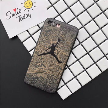 New Coque Air Jordan Logo Sole All Protective Soft Leather Cover for iPhone 7 6 6S Plus AJ Jumpman Phones Cases Michael Caso