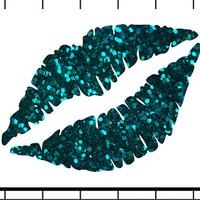 Printable art, teal glitter lips, quirky art, for the home, home decor art, instant download, printable download, printable art, glitter