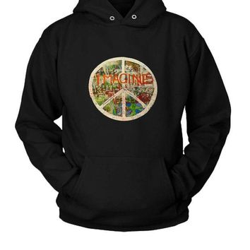 LMFGW7 All You Need Is Love The Beatles John Lennon Imagine Hoodie Two Sided
