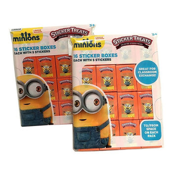 Despicable Me Minion Valentines with Stickers