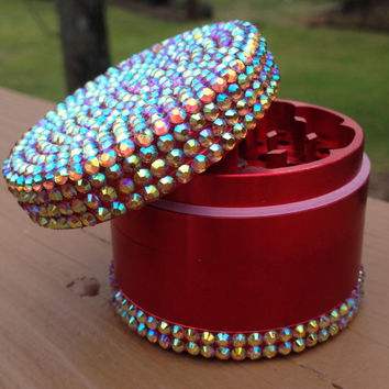 GRINDER -- Red and Orange Iridescent T/B