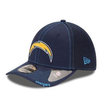 Los Angeles Chargers LA New Era Neo NFL 39THIRTY Stretch Cap Flex Mesh Back Hat