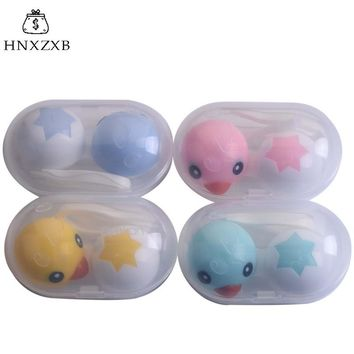 HNXZXB Little Duck Animal Contact Lenses Storage Box Contact lens Washer Cleaner Case Box For Eyes Care Kit Holder  Container