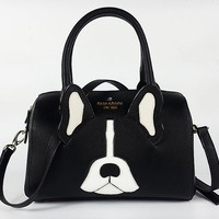 Hot Sale Kate Spade Women Black Whtie Dog Style Handbag