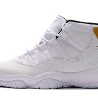DCCKL8A Jacklish Cheap Jordans 2017 Air Jordan 11 (xi) Retro Ovo White Gold On Sale
