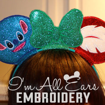 Lilo and Stitch Disney Inspired Personalized Custom Mouse Ears