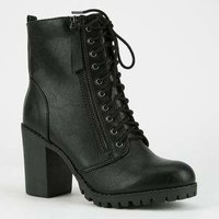 SODA Lace Up Womens Combat Boots