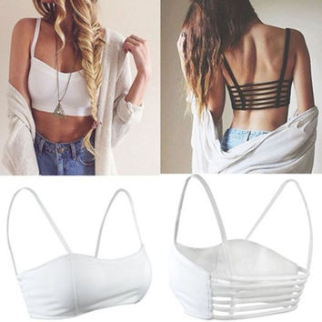 Trendy Fashion Strappy Bandage Summer Bra Crop Top Bustier Casual Women's Bralette