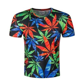 All Over Print Weed, Marijuana, Cannabis, Ganja, Maryjane Leaf T-shirt
