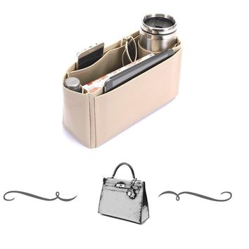 Kelly 32 Deluxe Leather Handbag Organizer, Leather bag insert for Hermes Kelly 32 Express Shipping